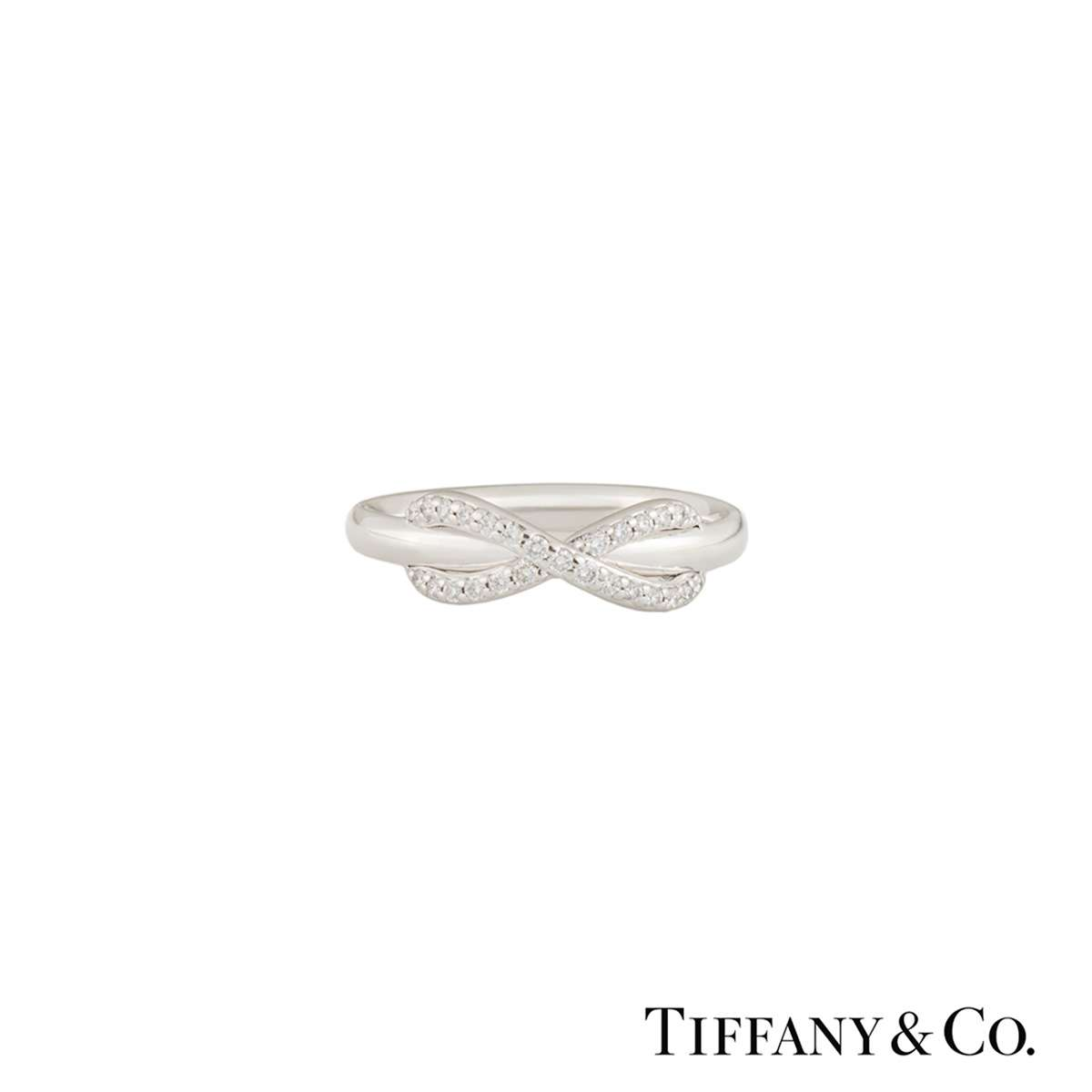 tiffany amp co white gold diamond infinity ring 013ct fvs